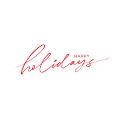happy holidays phrase modern calligraphy vector image