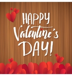 Happy Valentines Day red lettering background vector