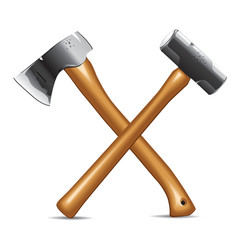 Hatchet and hammer vector