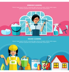 House cleaning banners set vector