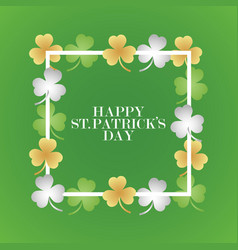 Invitation or greeting card for the day of st vector