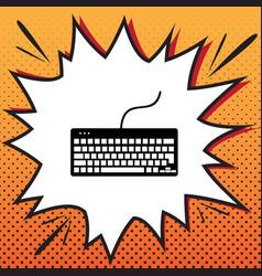 keyboard simple sign comics style icon on vector image