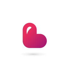 Letter l heart logo icon design template elements vector