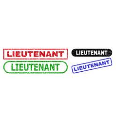 Lieutenant rectangle watermarks using grunged vector