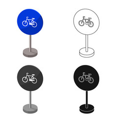 mandatory road signs icon in cartoon style vector image