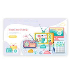 Media advertising television and radio resources vector