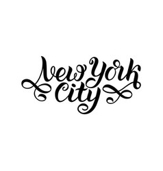 New york city ny logo isolated black nyc label vector