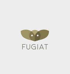 owl logo design color bird creative vector image