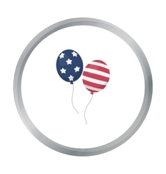 Patriotic balloons icon in cartoon style isolated vector image