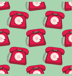 phone seamless background for design vector image