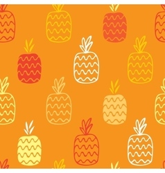 Pineapples seamless pattern vector image