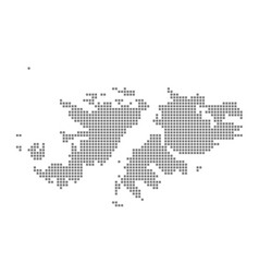 pixel map of falkland islands dotted map of vector image