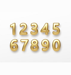 Realistic 3d lettering numbers isolated on white vector