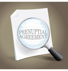 Reviewing a Prenuptial Agreement vector image