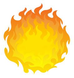 Round fireball design element vector