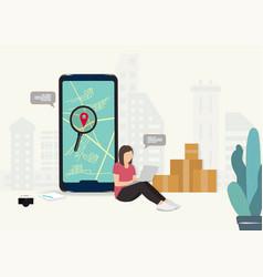 service saleing online online order tracking vector image