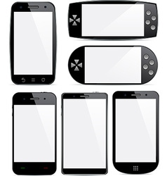 Set of smartphone concepts vector image