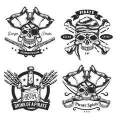 set pirat elements vector image