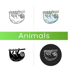 Sloth icon vector