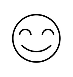 smile face with closed eyes icon logo vector image