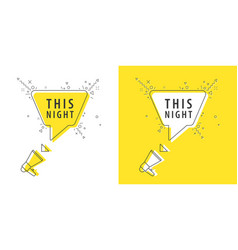 speaker and tag this night vector image