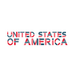 text united states of america usa banner vector image