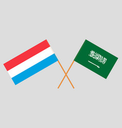 The luxembourgish and ksa flags vector