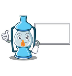 thumbs up with board lantern character cartoon vector image