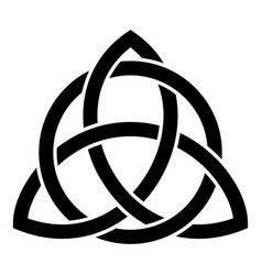 triquetra in circle trikvetr knot shape trinity vector image