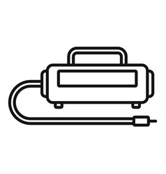Unit air compressor icon outline style vector