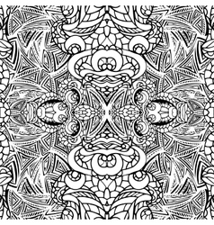 Abstract swirl ethnic seamless pattern vector image vector image