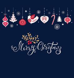 christmas with traditional christmas vector image vector image