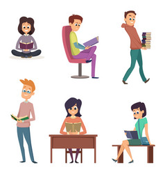 different gadgets for reading characters reading vector image