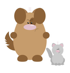 dog and cat angry vector image
