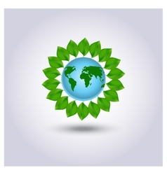 Ecology icon green planet vector image vector image
