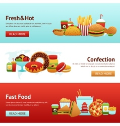 Fast Food Banner Set vector image vector image