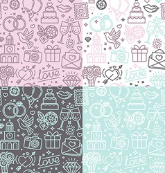 seamless pattern and background for wedding vector image vector image