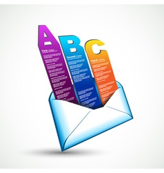 ABC option email vector image