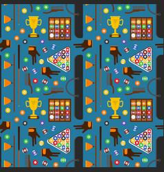billiard game equipment background pattern vector image
