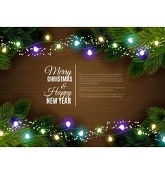 Christmas lights borger decoration season vector image