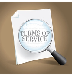 Reviewing Terms of Service vector image