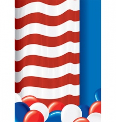 american poster vector image