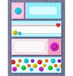 cards with colorful buttons vector image