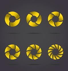 Golden segmented circles vector image vector image