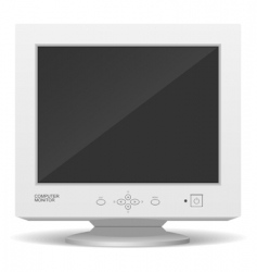 old monitor vector image vector image