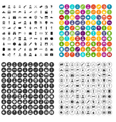 100 movie icons set variant vector