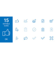 15 ok icons vector image