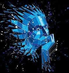 3d low poly portrait a smart woman human vector
