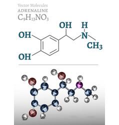 Adrenaline molecule image vector