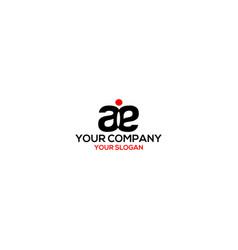 Ae with dot logo design vector